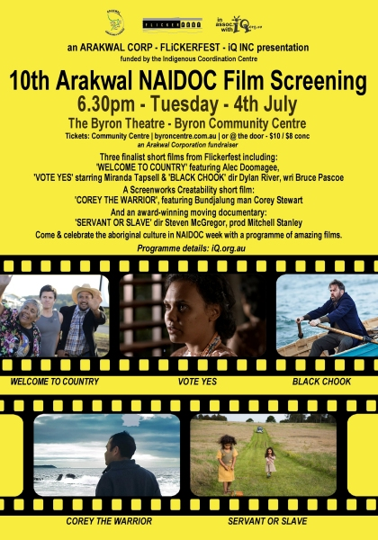 10th Arakwal NAIDOC Week Film Screening poster