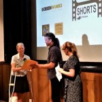 Mullum Flickerfest Byron All Shorts awards- Susie Foster, Shane Rennie, Bronwyn Kidd (iQ-Flickerfest Best Short Film Award) (2)