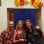 Pythagoras Kariotoglou, Krista Werner (wri-dir-prod) and Tim Wall (Foil Man crew)