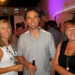 Flickerfest 2014 Byron All Shorts - Simon & Sarah Oakley (SAE national markiting mgr), Bronwyn Kidd Flickerfest director)